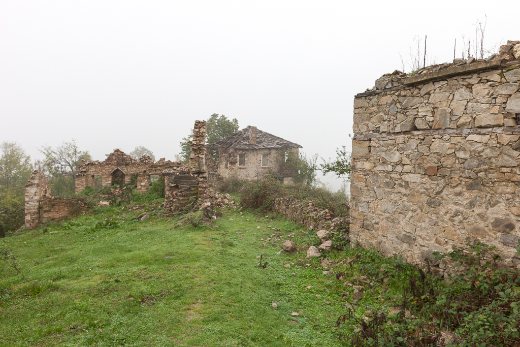 The abandoned village of Dyadovci, West Rhodope, Bulgaria